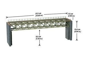 Noch 67020 Gauge H0, Laser-Cut Steel Bridge, 37,2 CM Long # New IN Boxed ##