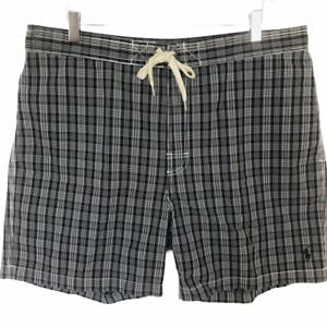 "Polo Ralph Lauren Swim Trunk Shorts Black White Mens Size XL Swimwear 6"""