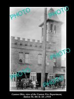 OLD LARGE HISTORIC PHOTO OF CANTON OHIO, VIEW OF THE No 6 FIRE STATION c1910