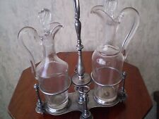 ANTIQUE Art-Nouveau  KRISTOFLE  SILVERPLATE  SET OIL -acetic