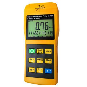 3-Axis EMF ELF Meter Frequency Magnetic Field Gauss Tester 20/ 200/ 2000 mG & uT