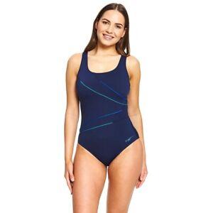 Zoggs Women's Macmaster Scoopback - Navy, One Piece Swimwear