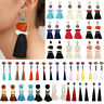Vintage Fashion Women Bohemian Fringe Boho Long Tassel Hook Drop Dangle Earrings