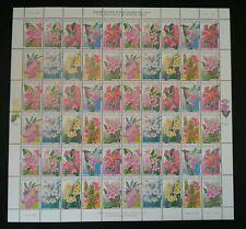 Highland Flowers Malaysia 2000 Flora Plant Leaf Tree (stamp sheet) MNH *rare