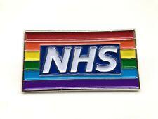 UK Stock  NHS Rainbow Proud of Nurse and Doctor NHS Pin Badge Enamel Brooch