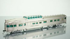 Broadway Limited California Zephyr Dome CB&Q Observation Silver Horizon HO scale