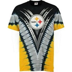 """Pittsburgh Steelers """"V"""" Design Tie Dye Shirt by Liquid Blue - Adult X-Large"""