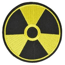 Radioactive - Iron on Patch - Black and Yellow
