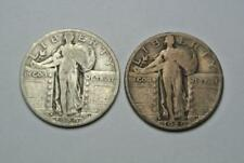 1929-D & 1929-S VF Condition Standing Liberty Quarters - C5180