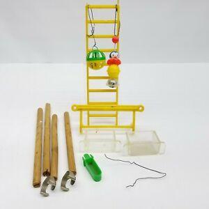 Birdcage Accessories Crown Plastic Clown Head Vtg Bird Feeder Water Ladder Perch