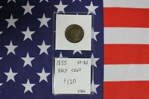 1855 Half Cent - Extra Fine-Almost Uncirculated Condition - XF-AU (V906)