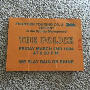 The Police ticket Sydney Showground 02/03/84 #13926