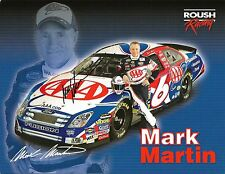 2006 Mark Martin AAA FORD FUSION NASCAR RACING Signed Auto 8.5x11 Postcard