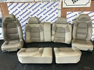 SAAB 9000 CSE Full Elmo Leather Seats Beige Front & Rear 1997 1998 Exclusive