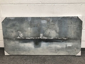 Cox And Cox Hand Painted Sky Abstract Canvas, Blue RRP295