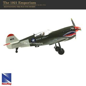 1:48 New Ray Toys WWII US Army Air Corp Cutiss P-40 WarHawk Fighter Plane