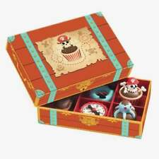 Djeco Wooden Cakes Pirate in Treasure Chest Box Play Food