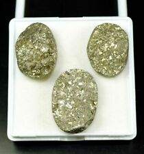 Exclusive Set ! 118.10 Cts. 100 % Natural Pyrite Oval Cab For Silver Pendant