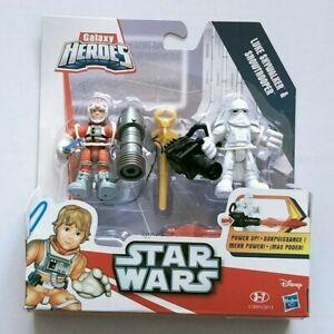 NEW ~ STAR WARS GALAXY HEROES ~ LUKE SKYWALKER + SNOWTROOPER Disney Playskool