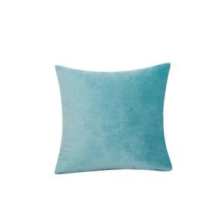 Velvet Pillow Cover Square Cushion Case Pillowcase Solid Color For Sofa Car Home