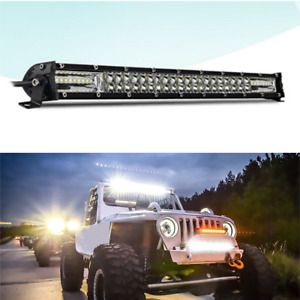 20Inch 300W LED Work Light Bar Dual Row Flood Spot Beam Driving Lamp Offroad 4WD