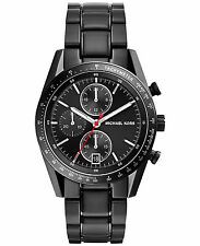 NEW MICHAEL KORS MK8386 MENS BLACK ACCELERATOR WATCH - 2 YEAR WARRANTY