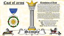 Slave-Slive COAT OF ARMS HERALDRY BLAZONRY PRINT