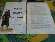 Tintigny / Rossignol / Neufchateau - 22 aout 1914