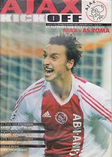 Programme / Programma Ajax Amsterdam v AS Roma 10-12-2002 UEFA CL