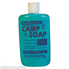 BIODEGRADABLE CONCENTRATED CAMP SOAP 8 OUNCE - Fragrance Free, Camping, Boating