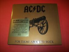 CD AC/DC-FOR THOSE ABOUT TO ROCK-EPICSONY MUSIC-2003-DIGIPAK REMASTERS ULTIMATE