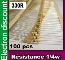 Résistance 1/4w  330 ohms 330R  lot de 100