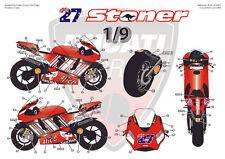 """[FFSMC Productions] Decals 1/9 Ducati GP7 2007 """"Codes Barres"""""""