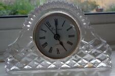 24% Lead Crystal glass Mantle Clock Empress