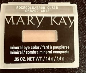 New Rare MARY KAY Mineral Eye Color ROSEGOLD Eye Shadow Discontinued HTF BONUS