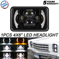 "For Chevrolet Camaro 4x6"" LED Headlights Hi/Lo Sealed Beam Bulb Headlamps DRL"