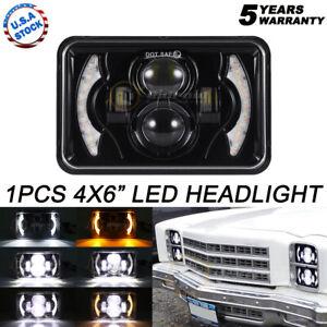 "For Chevrolet Camaro 4x6"" LED Headlights Hi/Lo Sealed Beam Bulb Headlamps DRL"