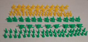 GREEN & YELLOW ARMIES MILITARY CALVARY INFANTRY ARTILLERY 1993 Risk Game #00044