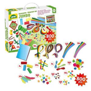 Bastelkoffer Jumbo 800 Teile DIY Bastelset Kinder Kinderbastelset Bastelpapier