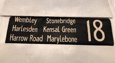 "London Linen Bus Blind 5.2.82 42"" 18 Stonebridge Harlesden Kensal Grn Marylebone"