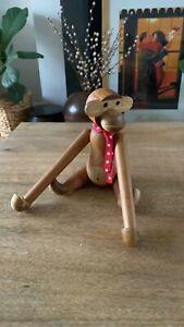 Super Cute Hanging Wooden Monkey - Teak -  Approx 26cms - Ornament