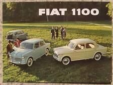 FIAT 1100 Car Sales Brochure c1962 #1693 Family EXPORT Special SALOONS