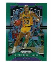 2019-20 Panini Prizm Kareem Abdul-Jabbar #20 Green Los Angeles Lakers