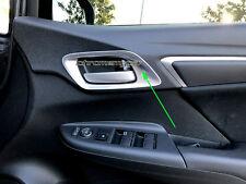 4 Pcs Silvery Inner Door Handle Surrounding Garnish for Honda Jazz FIT GF 14-17
