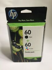 HP 60 BLACK + 60 Ink Cartridge TRI COLOR COMBO PACK Expired 2012 Free Shipping