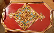 Marocchino Vassoio dipinto a mano con forma di stella