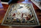 Antique French 18 / 19th Century Aubusson Wool Tapestry Romantic Scene Superb