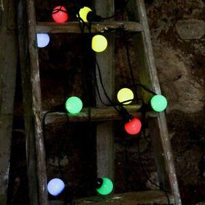 3 - 30 m Festoon Outdoor String Lights LED Multi Colour Globe Bulb Garden Party