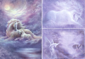 "UNICORN MARE & FOAL by JACK SHALATAIN -""TREE FREE"" CARD"