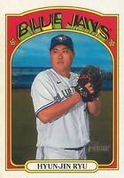 Hyun-Jin Ryu 2021 MLB Topps Heritage Baseball Base Card #342 Toronto Blue Jays